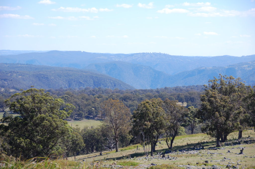 Rolling hills and valleys that make up the farming land around Armidale ** Note: Slight blurriness, best at smaller sizes
